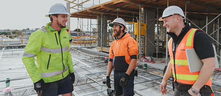 Tradies chatting